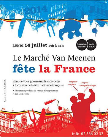 Le marché de la place Van Meenen fête la France !
